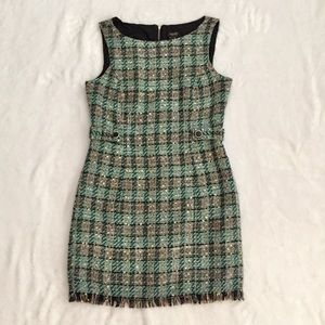 LAUNDRY by SHELLI SEGAL Tweed Sheath Dress